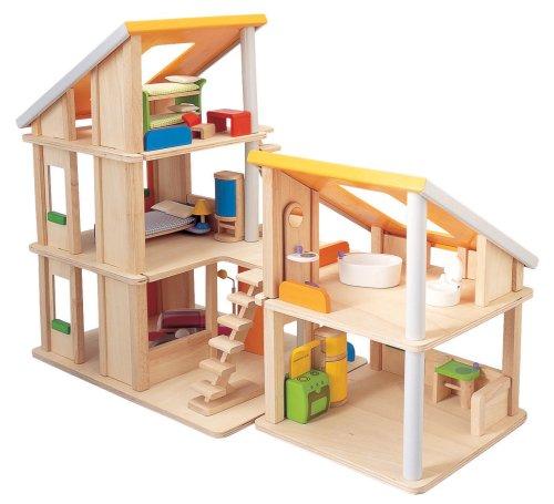 Imagen de Toy Chalet Plan Doll House con muebles