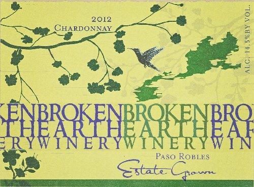 2012 Broken Earth Chardonnay Paso Robles 750 Ml