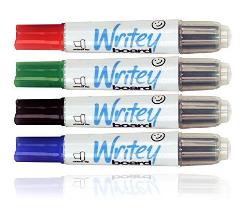 Writeyboard Re-Fillable Low Odor Premium Dry Erase Markers Eco-Friendly, 4 Pack (Dry Erase Board Mounting Bracket compare prices)