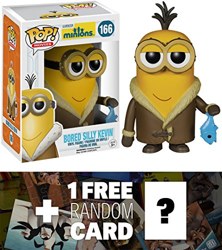 Bored Silly Kevin: Funko POP! x Minions Vinyl Figure + 1 FREE CG Animation Themed Trading Card Bundle [51105] [51082]