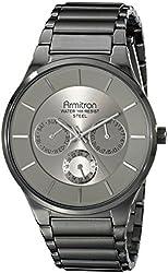 Armitron Men's 20/5011GYGN Multi-Function Gunmetal-Tone Stainless Steel Bracelet Watch