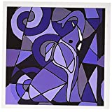 3dRose Blue Elephant Abstract, Greeting Cards, Set of 6 (gc_195119_1)