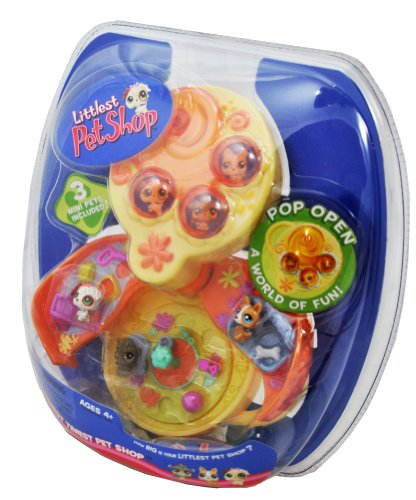 Buy Low Price Hasbro Littlest Pet Shop LPS Year 2006 Teeniest Tiniest Series Mini Pet Figure Set with 3 Dog Mini Figures and Pop Open On the Go Dog Park Case (B004BIYLZ2)