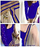 RAMAPIR CRATION BLUE DRESS MATERIAL
