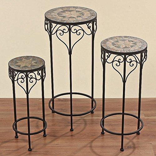 Beistelltisch Tisch Malta rund 60 cm hoch, Mosaiktisch, Eisentisch günstig bestellen