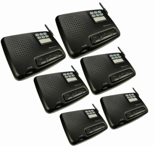 Best Review Of Digital 6-Channel FM Wireless Intercom System for Home and Office, 6-Station