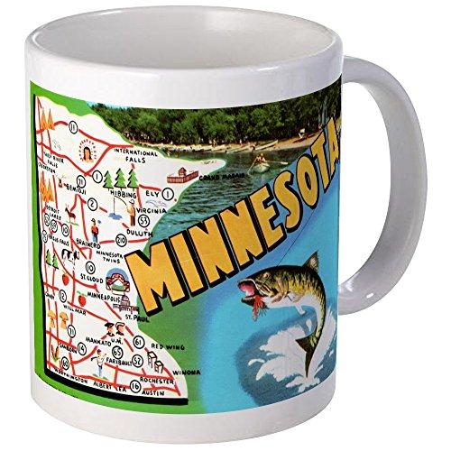 CafePress - Minnesota State Map Mugs - Unique Coffee Mug, 11oz Coffee Cup (Minnesota Cup compare prices)