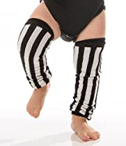 Vertical Black & White stripe Leg Warmers referee themed for baby,toddler Boys & Girls by juDanzy