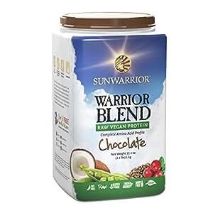 Sunwarrior Blend Raw Vegan Protein Powder, Chocolate, 2.2 Pound