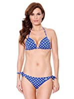 Cortefiel Bikini Mini Push Up (Azulón)