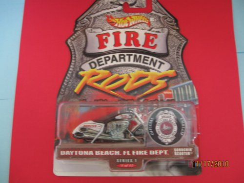Hot Wheels Scorchin Scooter Fire Department Daytona Beach Florida