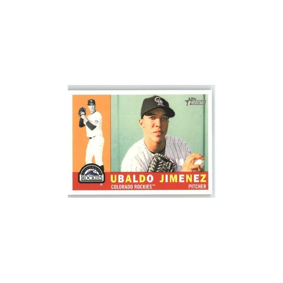 Ubaldo Jimenez   Colorado Rockies   2009 Topps Heritage Card # 291   MLB Trading Card