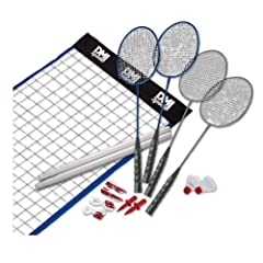 Click here to buy DMI Sports Vintage Badminton Set with Carrying Case by Verus Sports.