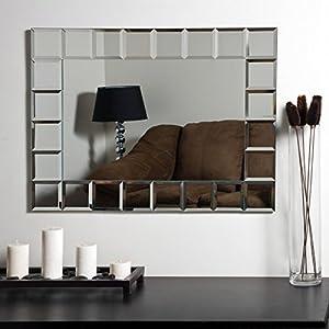 Decor wonderland montreal modern frameless bathroom mirror 31 5w x 23 6h in home - Bathroom mirrors montreal ...
