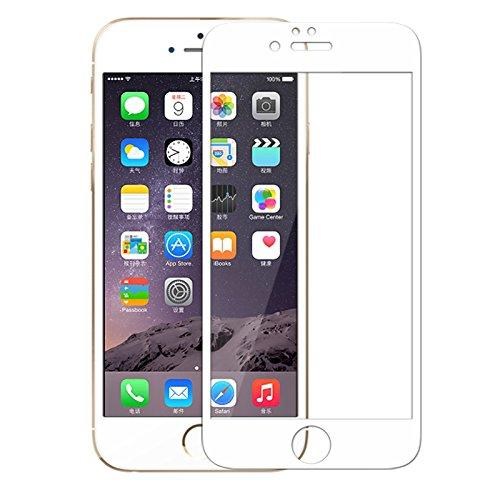 【ShineZone】iPhone SE 専用強化ガラスフィルム 0.3mm 【全画面貼る可能】超薄型.表面硬度9H・ラウンド処理・飛散防止処理・ 高透過率 ・撥油性保護フィルム(ホワイト))