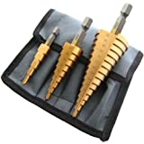 Am-Tech Large High Speed Steel Step Drill Set (3 Pieces)