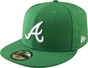 MLB Atlanta Braves Kelly with White 59FIFTY Fitted Cap by New Era