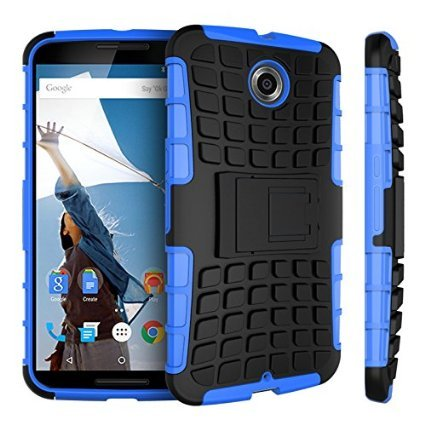 G-STAR Shockproof Armour With Kickstand Case For Google Nexus 6 - Blue