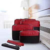 OXA 4 Piece Packing Cube Set with Laundry and Shoes Bag