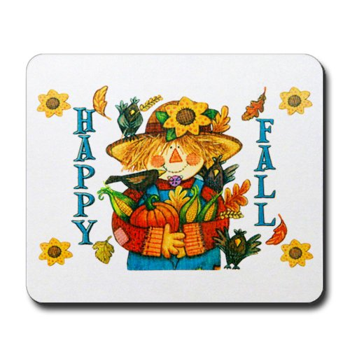 Mousepad (Mouse Pad) Happy Fall Scarecrow and