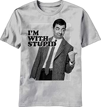 """""""I'm With Stupid"""" -- Mr. Bean T-Shirt, Large"""