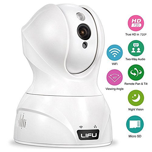 Wireless-IP-Camera-LiFu-1280-x-720P-Home-Security-Surveillance-HD-Pan-and-Tilt-WiFi-Camera-Built-In-Microphone-with-Night-Vision-for-Pet-Baby-Video-Monitoring