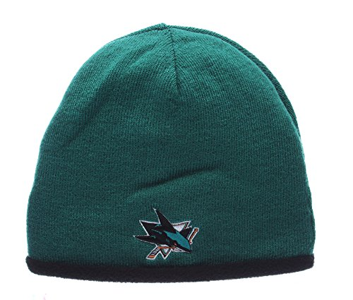San Jose Sharks Reversible Skull Cap - NHL Cuffless Winter Toque Knit Beanie Hat (San Jose Sharks Toque compare prices)