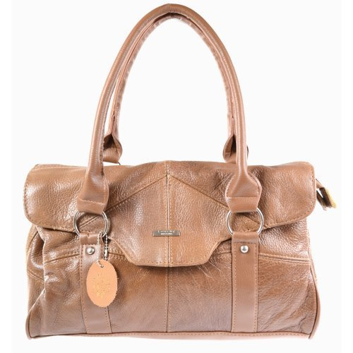 Ladies Leather Shoulder Bag   Handbag with Folder Over Flap and Magentic Clasp. ( Black   Dark Brown   Fawn  ...