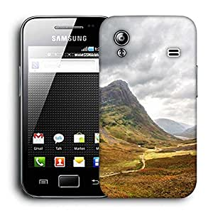Snoogg Black Clouds Printed Protective Phone Back Case Cover For Samsung Galaxy ACE S5830