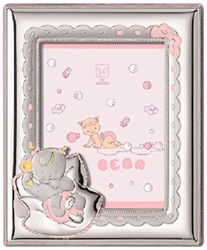 "Silver Touch USA Sterling Silver Picture Frame Nap Time, Pink, 3.5"" x 5"" - 1"