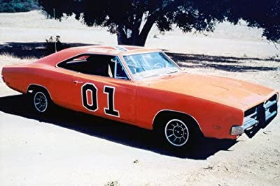 Dukes Of Hazzard General Lee Dodge Charger 24x36 Poster