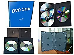 DVD CASE 2 IN 1 BLACK 50 PIECES (SUPER SAVING PACK) DISC Cover / Case / Folder / Pouch for 50 CD CDs / DVD DVDs 2 IN 1