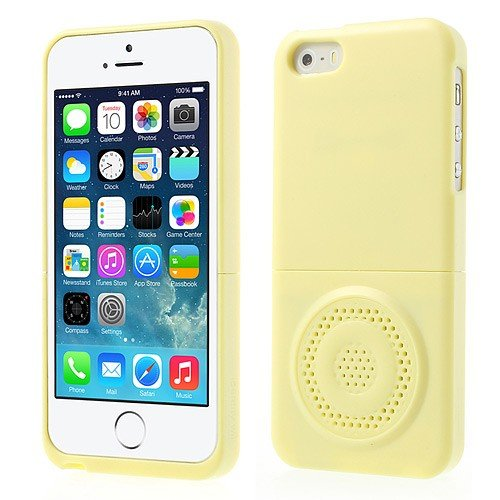 Jujeo Iface Identity Will Speaker Amplifier Case For Iphone 5/5S - Non-Retail Packaging - Yellow