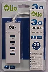 OLIO 4PORT USB 3.0 HISPEED HUB WITH WINDOWS AND MAC SUPPORT
