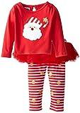 Mud Pie Baby-Girls Newborn Santa Skirt Set