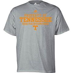 Buy Adidas Property of Tennessee Volunteers Grey Mens Short Sleeve T-Shirt by NCAA