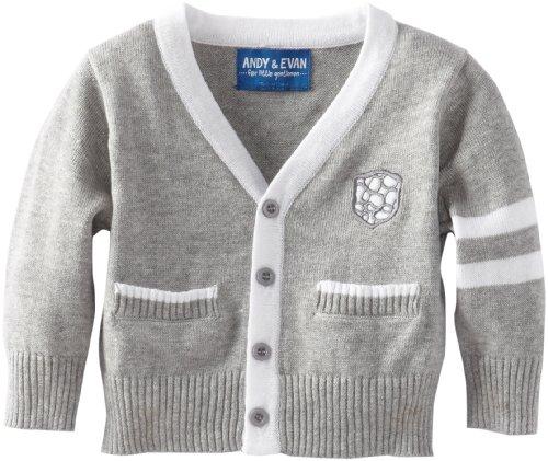 a12864d95 Andy Evan Baby Boys Infant Varsity Cardigan Grey 3 6 Months - Nancy ...