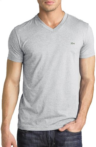 Lacoste Men's Short Sleeve V-Neck Pima Cotton T-Shirt