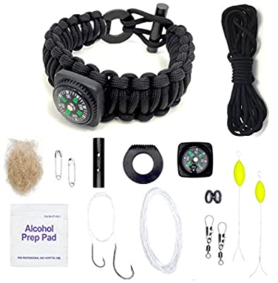 The Ultimate Paracord Survival Kit Bracelet by LAST MAN Survival Gear