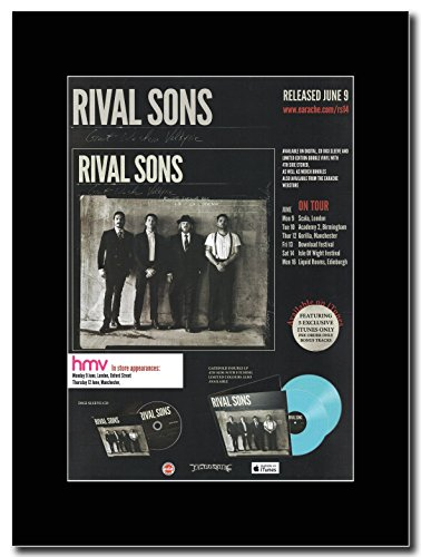 Rival Sons-Great Western Valkyrie Magazine Promo su un supporto, colore: nero