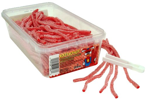 Sour Power Strawberry Straws 200 Count Tubs Pack of 2