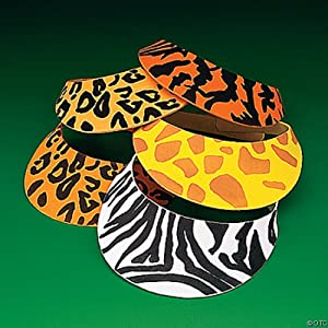 Foam Animal Print Safari Visors (1 dz)