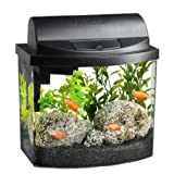 Aqueon 17771 Mini Bow 2-1/2 Desktop Aquarium Kit, Black