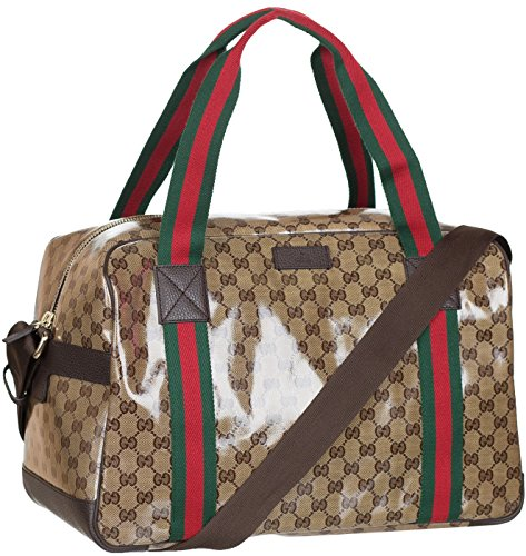 gucci-beige-gg-guccissima-crystal-coated-leather-duffel-travel-shoulder-bag