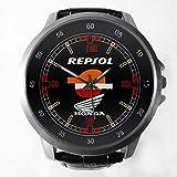 Repsol Honda Official Team MotoGP Sponsor Custom Metal Sport Watch with Leather Band