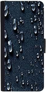 Snoogg Grey Dropsdesigner Protective Flip Case Cover For Samsung Galaxy S5 Mini