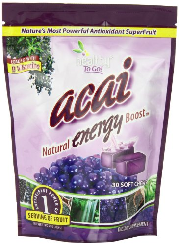 Healthy To Go Acai Energy Chews, 30 Soft Chews Bag