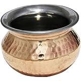 RoyaltyRoute Copper Steel Tableware Serving Utensils Handi For Indian Dishes Serveware Bowl