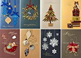 クリスマスカードセット(8枚組、2つ折り、中紙・封筒付き) Christmas card set XCS-483
