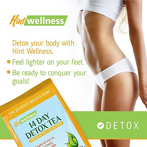 14 day detox tea by hint wellness 43g skinny tea detox and body cleanse aids weight loss red. Black Bedroom Furniture Sets. Home Design Ideas